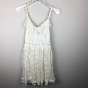 Lost embroidered lace midi dress